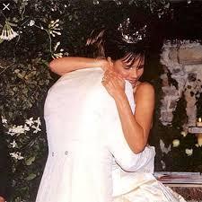 beckham wedding dress david and beckham celebrate 17th wedding anniversary with