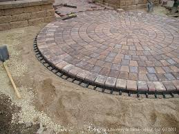 Patio Edging Options by Paver Patio Front Entry Interlocking Paver Edge Restraint