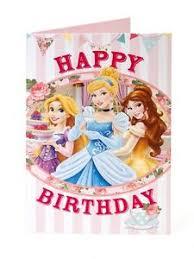 disney princess happy birthday card age daughter niece