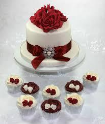 burgundy and ivory wedding cakes rich fruit cake with vani u2026 flickr