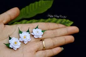 Tiny Flower Crochet Pattern - crochet gardenia flower by happy patty crochet