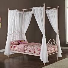 Girls Canopy Bedroom Set Bedroom White Canopy Bed Heart Wool Rug Wooden Floor Pillows