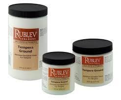 artists materials preparing a tempera painting support natural