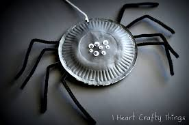 paper plate spiders i heart crafty things