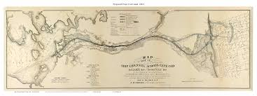 Map Of Cape Cod Ma Old Maps Of The Cape Cod Canal 1825 Survey Across The Isthmus