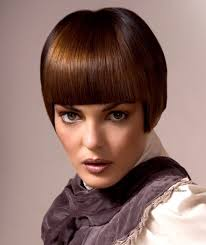 chestnut bob hairstyle with clean lines for a no nonsense look