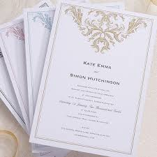 baroque invitation confetti co uk