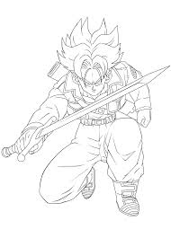 12 images of trunks coloring pages trunks ssj4 coloring page