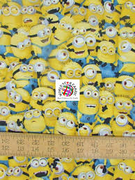 minion wrapping paper despicable me minions print cotton fabric