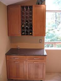 kitchen cabinets wine rack amazing brown color wooden under