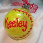 softball ornaments softball ornament