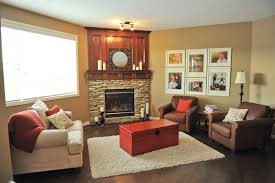 long narrow living room with fireplace in center arranging furniture with a corner fireplace brooklyn berry designs