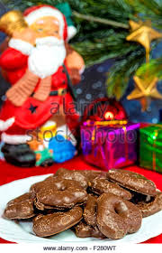 lebkuchen traditional german christmas cake stock photos