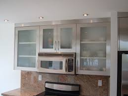 Wall Mounted Cabinet With Glass Doors Kitchen Attractive Ceramic Backsplash Benchtop Microwave