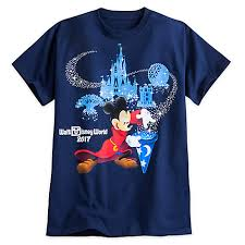 shirt for adults 2017 sorcerer mickey mouse blue