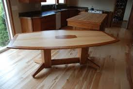 Hand Crafted Maple And Cherry Dining Table By Daniel Cabinets - Maple dining room tables