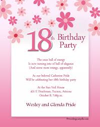 18 birthday invitation templates 18th birthday party invitation