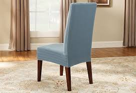 Sure Fit Stretch Pinstripe Short Dining Room Chair Cover French - Short dining room chair covers
