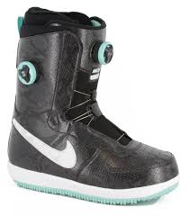 womens boots nike nike zoom 1 x boa s snowboard boot black white