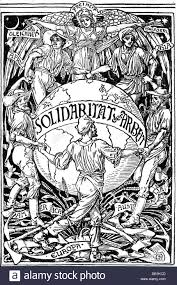 politics labour movement allegory on international solidarity of