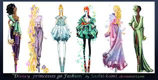 disney princesses go fashion ii by sashiiko anti on deviantart