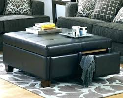 large leather tufted ottoman large leather ottoman osukaanimation com