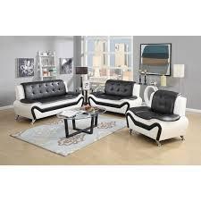 leather livingroom set wanda 3 modern bonded leather sofa set free shipping today