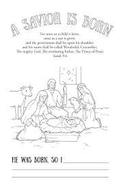 a savior is born printable coloring page the mormon home