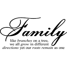 Quotes About Home Decor Family Like Branches On A Tree Vinyl Lettering Wall Sayings