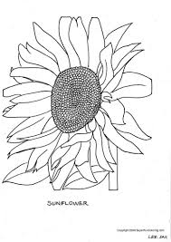 colouring pages sunflower flowers free for girls boys 45984