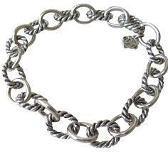 link bracelet images David yurman silver medium oval link bracelet tradesy jpg