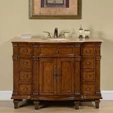 accord 48 inch antique single white sink bathroom vanity