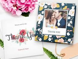 photo wedding thank you cards wedding thank you cards w photos from your big day personalized