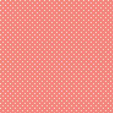 and coral polka dot pattern