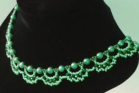 necklace pattern images Free pattern for beautiful beaded necklace emerald city beads magic jpg