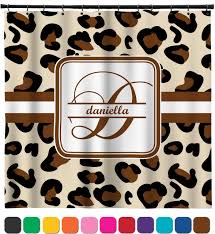 leopard print shower curtain personalized potty training concepts