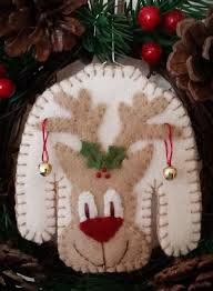 the sweater wool applique ornament cath s