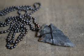 man necklace gift images Mens arrowhead necklace men 39 s leather necklace man gift etsy jpg