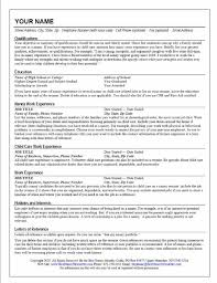 Resume Sample Objectives by Sample Nanny Resume Ideas Comcast Cable Installer Cover Letter