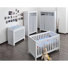 babyzimmer enni babyzimmer felix mit 3 türigem kleiderschrank in weiss mit grauen