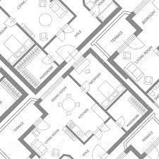 architect plan vector illustration furniture architect plan background flat
