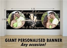 congratulations engagement banner personalised large congratulations wedding engagement