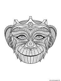 monkey head coloring pages printable