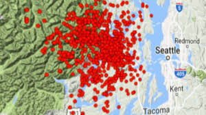 Washington State Earthquake Map by Belfair Earthquake Offers Test For Early Warning System King5 Com