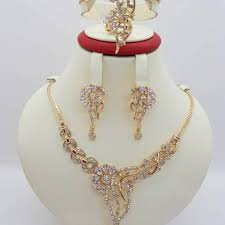 wedding jewellery sets gold artificial bridal jewelry sets new style 2018