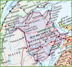 Map Of Canada Cities And Provinces by Large Detailed Map Of New Brunswick