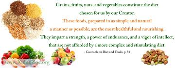 Counsels On Diets And Food Home