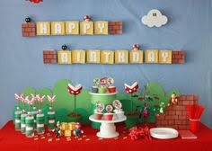 mario birthday party epic mario party use tissue boxes and fishing line from ceiling