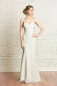 fitted wedding dresses matte crepe fitted wedding gown with sweetheart bodice