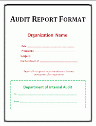 template for audit report audit report format template